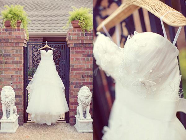 Phơi áo cưới ở nơi có ánh sáng nhẹ