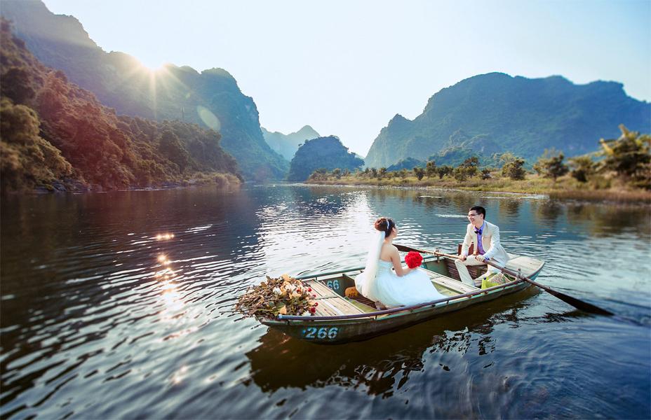 Chụp ảnh cưới ở Tràng An, Ninh Bình