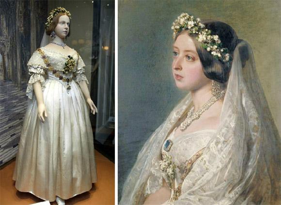Váy cưới trắng của nữ hoàng Victoria